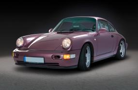 Fotostudio Focus Fahrzeugfotografie Porsche auf schwarz