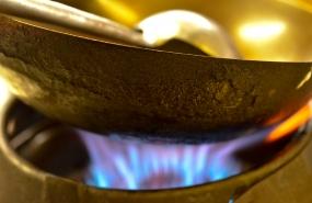 Fotostudio Focus Foodfotografie Wok Flamme